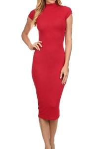 Short Sleeve Midi Fitted Dress | Shop Women's Dresses