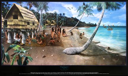 kitchen island for sale rear travel trailer guam gifts | art - chamorro village illustration ...