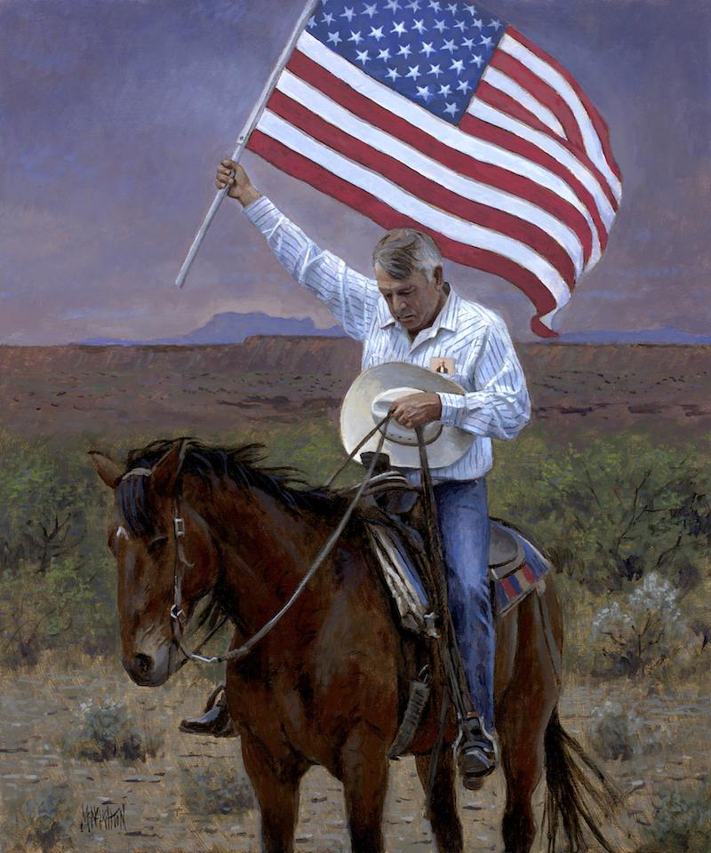 Patriotic - Americana Pray America Mcnaughton Fine Art
