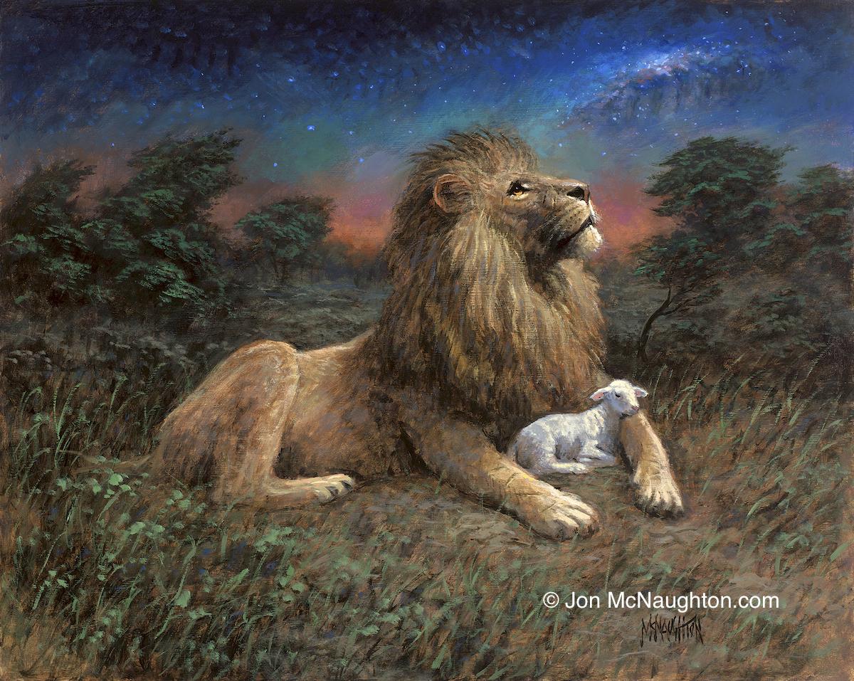 Jesus Lion and Lamb