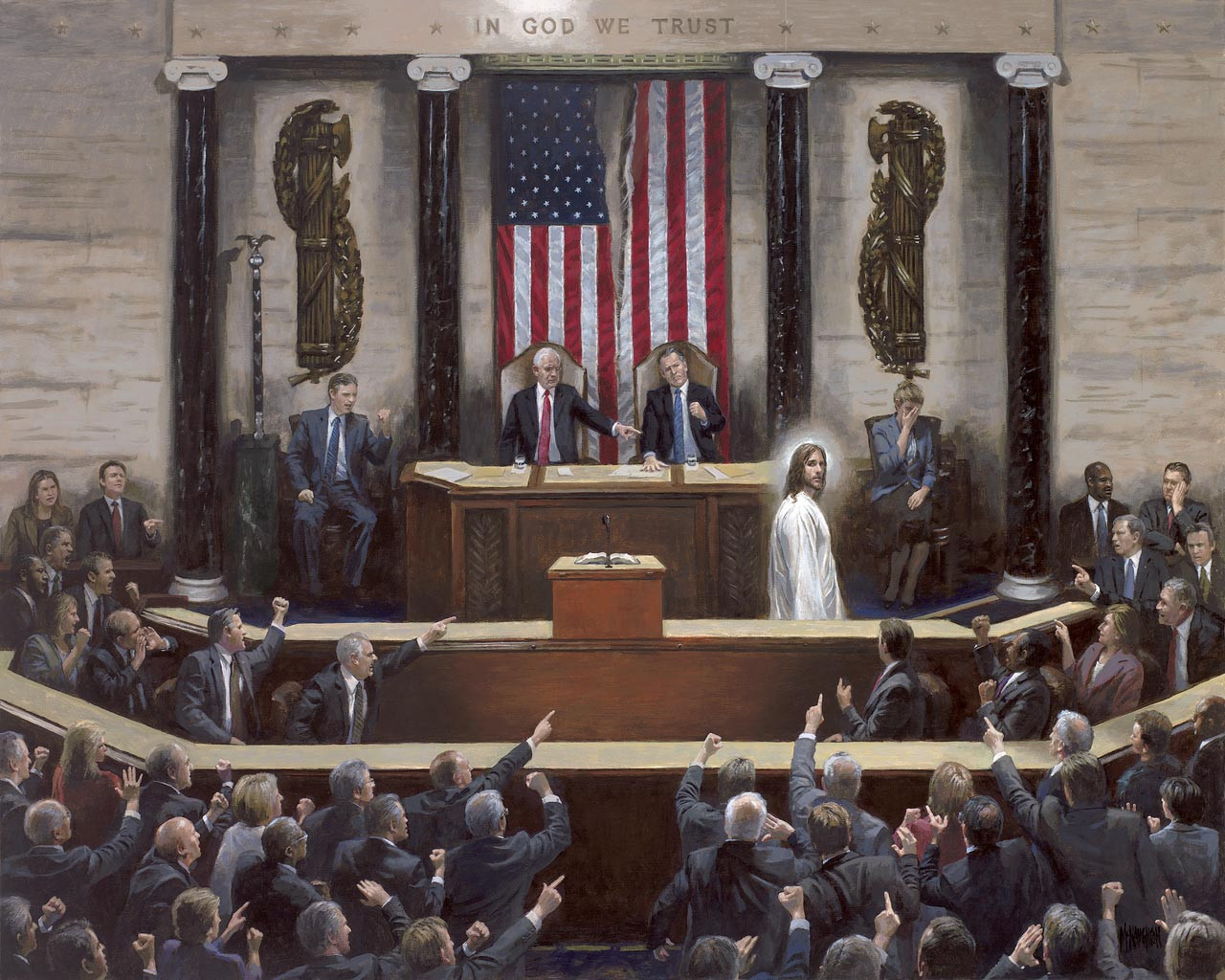 Separation Of Church And State - Canvas Giclee 24x30