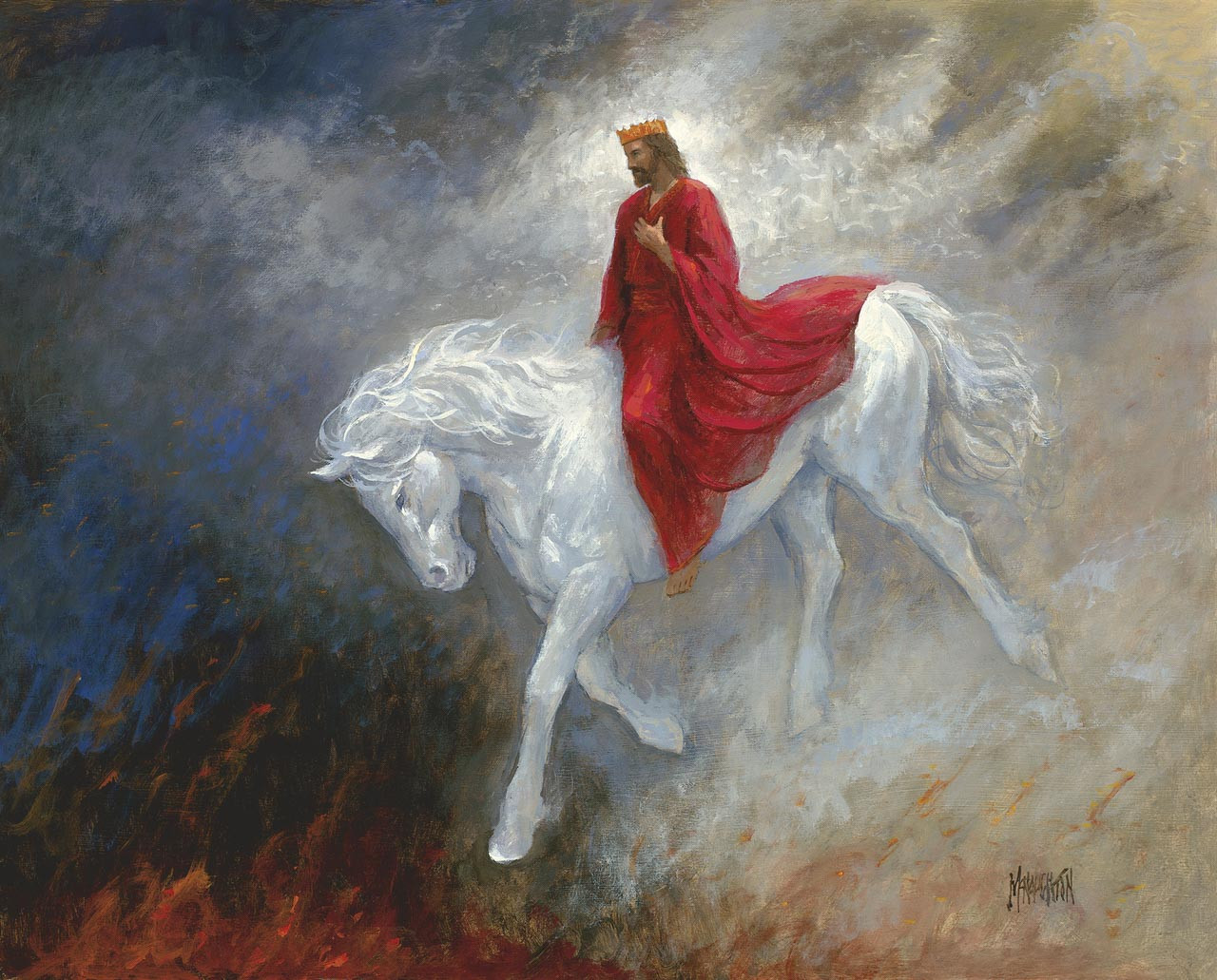Jesus Christ Second Coming Paintings