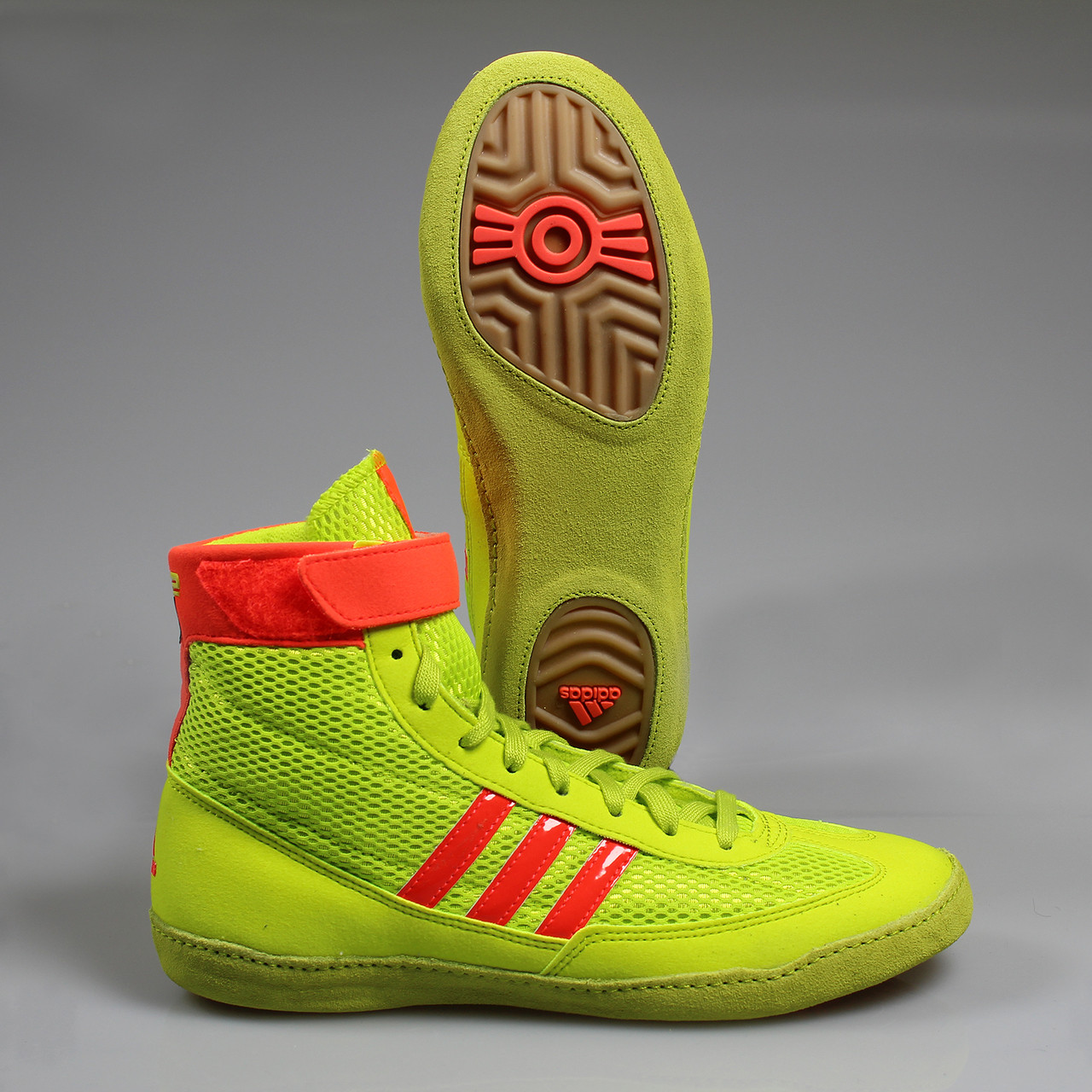 Adidas Combat Speed 4 Wrestling Shoes - Yellow Red Gum