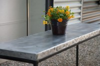 Hammered Zinc Table-Top - Rustica House