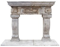 Mexican Stone Fireplace Mantel