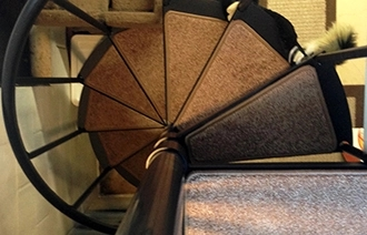 Non Skid Carpet Stair Treads Dean Flooring Company | Rug Treads For Steps | Creative | Covering | Residential | Oak | Turquoise