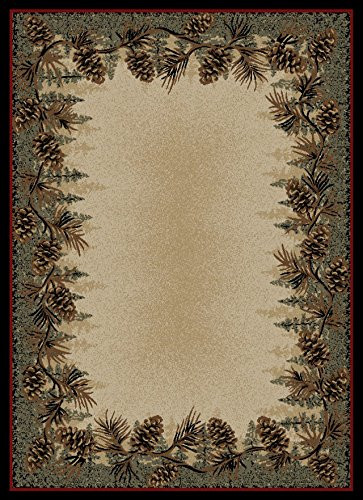 non skid kitchen rugs tables for small spaces dean mt. le conte pine cone lodge cabin cottage area rug 7 ...