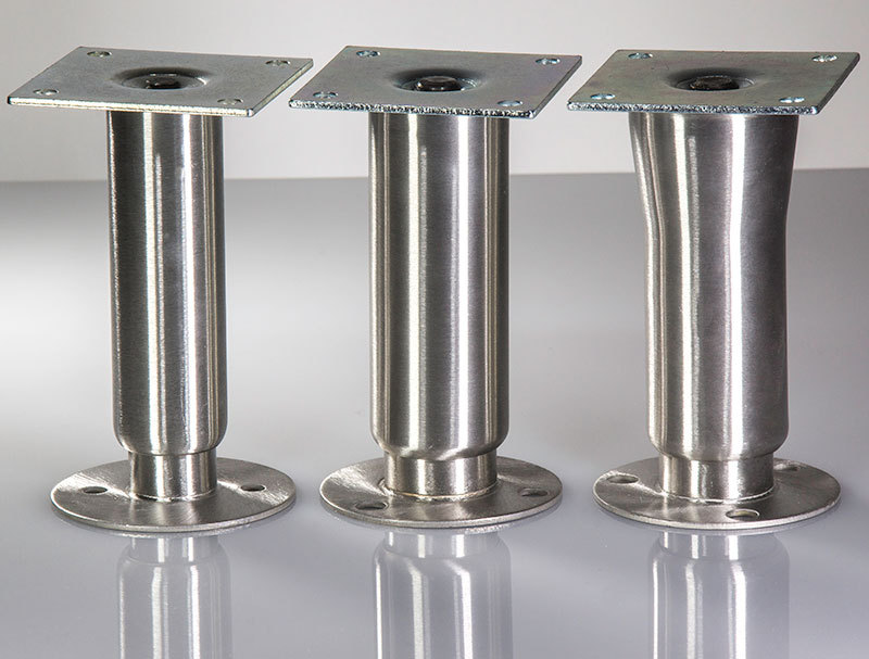 Stainless Steel Heavy Duty Bolt Down Cabinet Legs  Closet