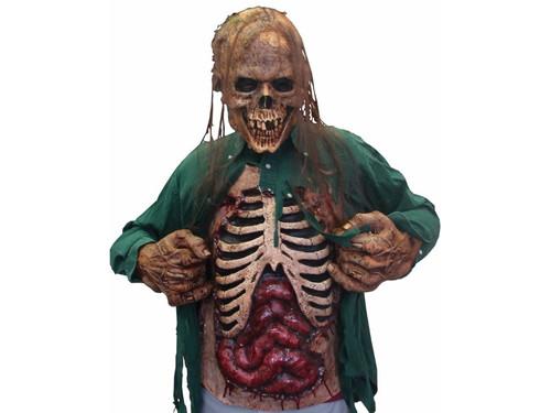 Gory Zombie Chest Latex Piece Skeleton Bones