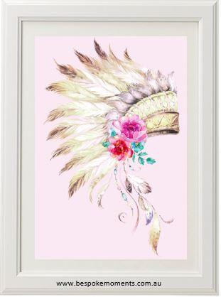 Boho Tribal Headdress Print Bespoke Moments