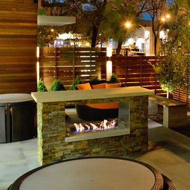 Firegear Key West 42 Outdoor See Thru Gas Fireplace