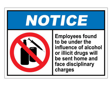 ANSI Notice Employees Found To Be Under The Influence Of