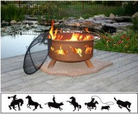 """Patina """"Western"""" Outdoor Fire Pit"""