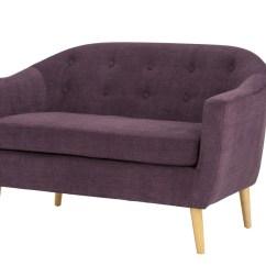 Retro Sofas Fulham Sofa Covers Indian Chenille Fabric 2 Seater Plum Ideal Furniture