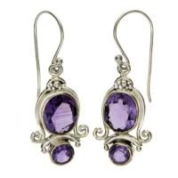 Purple Amethyst Earrings Sterling Silver Jewelry - Purple ...