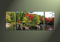 3 Piece Green Nature Canvas Large Pictures