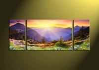 3 Piece Canvas Colorful Landscape Artwork