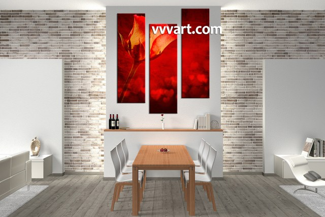 Original Art Abstract Painting Red Flowers Poppies Large Canvas Wall Textured Landscape Poppy