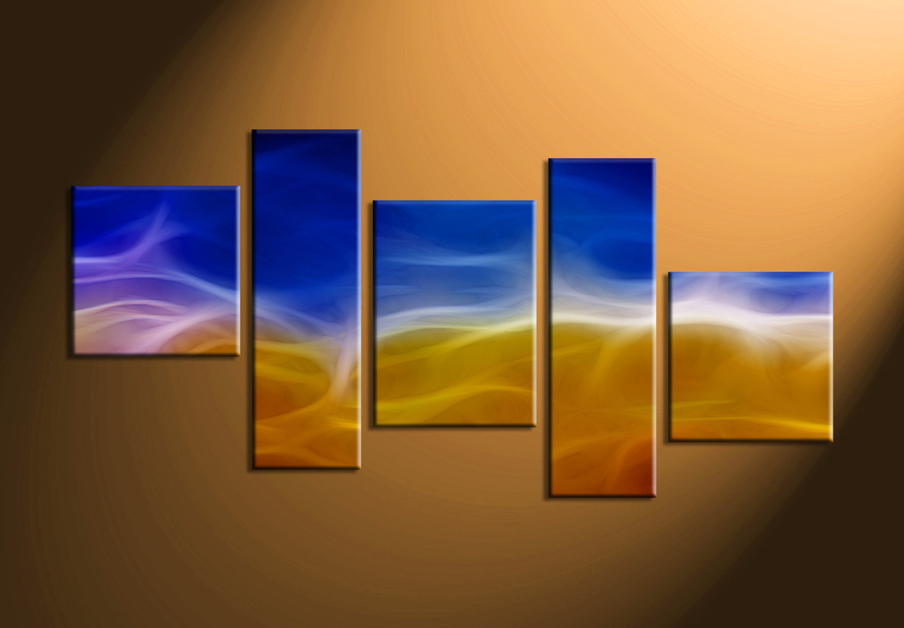 5 Piece Canvas Abstract Wall Art