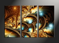 3 Piece Yellow Canvas Abstract Wall Art