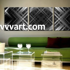 Drawing Room Sofa Images Small Scale Bed 3 Piece Canvas Grey Abstract Wall Decor