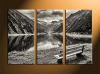 3 Piece Mountain Black and White Canvas Art Prints