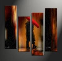 """4 Piece Wall Art - amazon.com: wieco art 4-piece """"brown ..."""