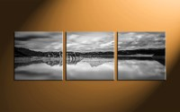 3 Piece Canvas Ocean Black and White Huge Pictures