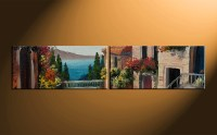 2 Piece Colorful Canvas City Wall Decor