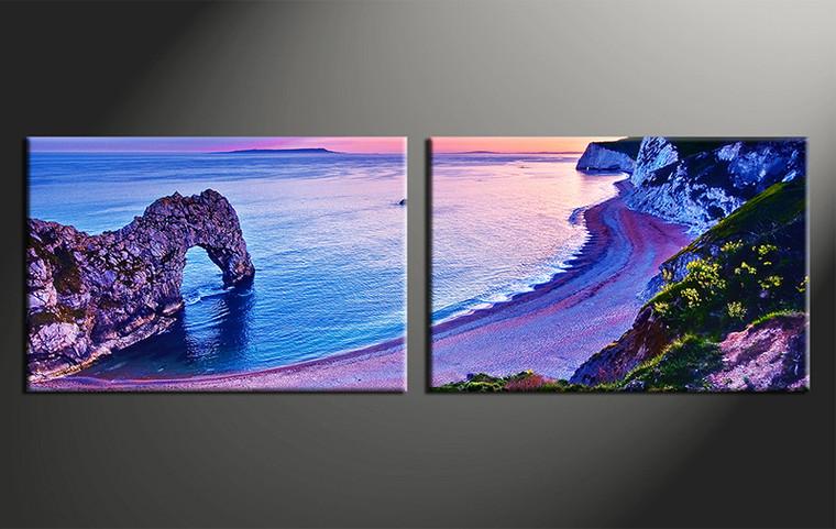 2 Piece Art Blue Ocean Canvas Photography