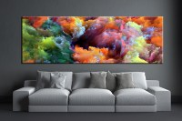 1 Piece Colorful Artwork Abstract Photo Canvas