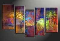 vvvart reviews,5 Piece Abstract Decor Colorful Oil ...