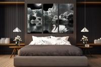 3 Piece Canvas Wall Art, Grey Photo Canvas, Cloud Wall ...