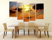 5 Piece Artwork, Landscape Canvas Photography, Desert