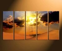 5 Piece Wall Decor, Landscape Canvas Print, Desert Huge ...
