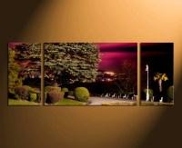 3 Piece Huge Canvas Print, Scenery Canvas Wall Art, Green ...