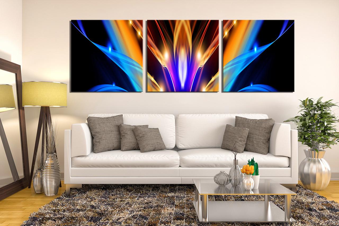 3 Piece Canvas Modern Wall Art Abstract