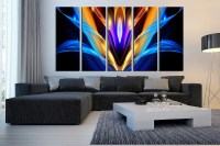 5 Piece Canvas Wall Art, Abstract Canvas Art Prints ...