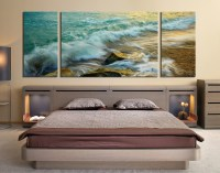 3 Piece Wall Decor, Panoramic Canvas Photography, Green ...