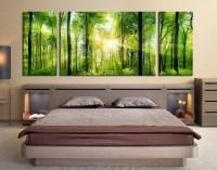 3 Piece Wall Decor, Panoramic Huge Canvas Print, Sunshine ...