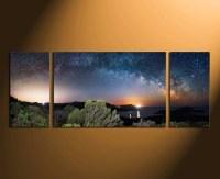 3 Piece Canvas Wall Art, Panoramic Wall Decor, Scenery ...
