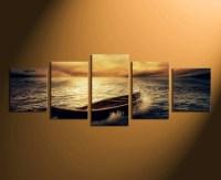5 Piece Group Canvas, Ocean Canvas Wall Decor, Panoramic ...