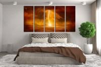 5 Piece Huge Canvas Print, Abstract Canvas Art Prints ...