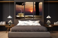 3 Piece Large Pictures, Cup Plate Multi Panel Canvas ...