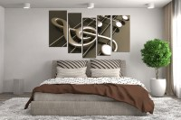 5 Piece Canvas Wall Art, Musical Notes Canvas Photography ...