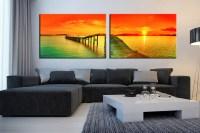 2 Piece Canvas Photography, Panoramic Sea Wall Decor ...