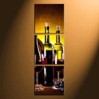 3 Piece Canvas Wall Art, Wine Bottle Huge Canvas Print ...