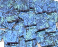 Blue & Bluegreen Van Gogh Stained Glass Mosaic Tiles ...
