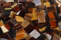 Amber / Autumn Mix Stained Glass Mosaic Tiles - Mosaic ...