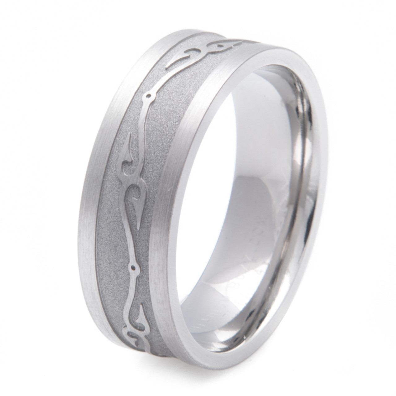 Titanium Connected Fish Hooks Wedding Ring Titanium Buzz